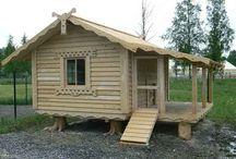 építkezés (faház, kemence....)