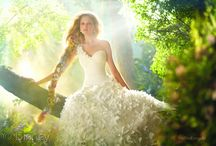 Wedding Bridal and flower girl fashion / Beautiful ideas for fairytale weddings from the bride to the flower girl