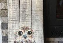 ξύλινες ζωγραφιές