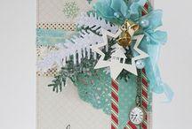 christmas cards, tags / Идеи открыток к Новому году и Рождеству.