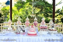 PRINCESS JADES CANDY BUFFETS PINK& WHITE LACE VINTAGE THEME!