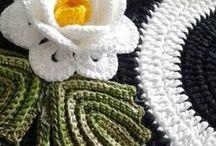 Вязание детали, цветы
