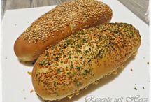 Baguettes, gefüllte Brote...