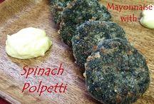 Spinach Polpetti / Spinach Polpetti Recipe from Kitchen Wisdom Gluten Free