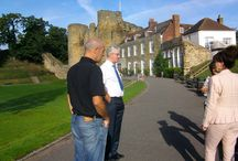 BBC FILMING FOR HYPHENALIA / We were proud to have been approached by the BBC this year.  Here are the photos, taken at Tonbridge Castle, Kent