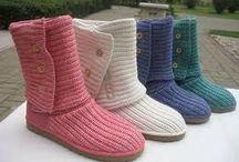 Botas de crochê