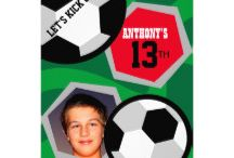 Soccer/ Football themed Parties / Soccer Party invitations, gifts and accessories