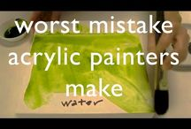Mistakes made with Acrylic painters