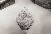 geometric drawing/tattoos