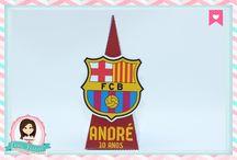 Festa Futebol - Time Barcelona / Festas Criativas e Personalizadas você encontra aqui. Procurando fofuras para a sua festa? Na nossa loja tem! http://loja.danifestas.com.br/