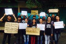 Aksi FREEDOM FIGHTER melawan asap / Aksi peduli asap FF Car free day 2015 at Balaikota Cirebon