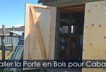 Porte pour Abri de Jardin - Cabanon ou Remise / Construire et installer une porte de cabanon remise ou abri de jardin en bois. Instructions détaillées avec illustrations.
