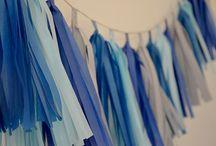 Niebieskie, eko urodziny / Morska girlanda i eko dodatki na przyjęcie w Family Cafe - Centrum Kreatywnego Rozwoju dla Zosi ♥  motyw przewodni: eko, girlandy, chorągiewki kolory przewodnie: szary papier, niebieski, błękitny, granatowy, turkusowy, szary  projekt, wykonanie, zdjęcia: minwedding  http://minwedding.pl/blog/?p=3385