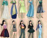 ☕  Disney hercegnők 20. századi stílusa  ☕