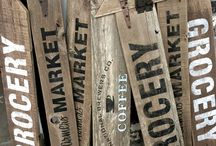 Fence Board Signs / Fence boards repurposed into signs.