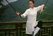 Women in Kung Fu / Many martial arts stances and forms are beautiful. Having trained in Chinese arts I personally find these the most stunning.