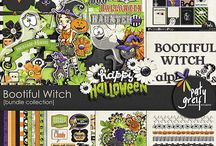 Bootiful Witch / Bootiful Witch! is a funny Halloween themed kit by Paty Greif. Use this Bundle to scrap all of your Halloween, for cute pages and projects!