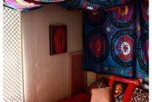 decorating with tapestry - indoethnic