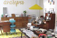 Conceptstores / Retail Design / Wonderful designed papeterie and lifestyle stores - wunderschön gestaltete Papeterie und Wohnaccessoire Ladengeschäfte