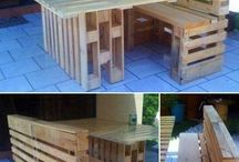 home made kitchen table and chairs