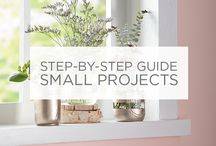 Step-By-Step Small Projects / If you're looking to use paint in unexpected ways, try our step-by-step guides to craft the perfect DIY small project. / by Valspar