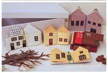 casitas de carton