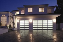 Modern Alluminum Collection / Sleek, sophisticated aluminum garage doors -a unique look for today's more contemporary-styled homes. Crisp lines and sleek design formed from durable corrosion-resistant aluminum and light-filtering glass make a striking complement to your home.