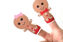 Gingerbreadman finger puppets