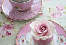 Tea Time! / There's nothing so comforting and relaxing as a good, hot cup of tea in a beautiful teacup, complete with saucer(you have to have the saucer). Tea cups are lovely and tea parties are truly special.