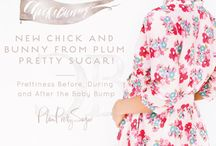 Chick + Bunny. { Before, During and After the Bump. } / For all of life's moments… in pregnancy and beyond, a new collection to make the journey pretty, Chick and Bunny. Sweet pieces for evolving style and needs… details for happy ease, silhouettes to highlight best angles and lightweight comfort for the prettiest mama's. Chick and Bunny from Plum Pretty Sugar.