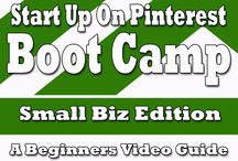 Pinterest Video Boot Camps / I've created over 30 videos, bundled into 3 boot camps. The Start Up On Pinterest Boot Camp. The Selling On Pinterest Boot Camp, and the Marketing On Pinterest Boot Camp. And coming soon, the Branding On Pinterest Boot Camp. Visit http://marketingonpinterest.com to find more information. / by Pinterest Marketing Author, Speaker and Expert Coach, Jason Miles
