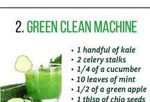 smoothies ..green etc.
