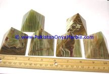 ONYX PYRAMIDS MULTI GREEN ONYX HEALING HAND CARVED POLISHED NATURAL