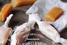 Bonbons Fudge und Karamell