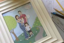 My custom family illustrations / Family portrait, bespoke family portrait, custom illustration, custom portrait