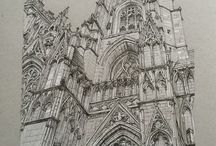 pen and ink architecture