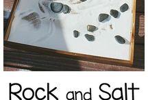 sensory salt tray