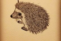 Hedgehog tattoo