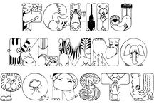 alfabeti stampabili