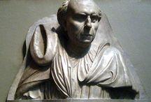Филиппо Брунеллески, 1377—1446, великий итальянский архитектор, скульптор Возрождения. / В Пистойе молодой Брунеллески работал над серебряными фигурами алтаря Святого Якова — в его работах сильно влияние искусства Джованни Пизано. В работе над скульптурами Брунеллески помогал Донателло (ему было тогда 13 или 14 лет) — с этого времени дружба связала мастеров на всю жизнь.   В Брунеллески счастливо совмещались выдающийся математический ум и высокоразвитая художественная интуиция. В этом плане он во многом напоминает Леонардо.