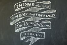 Chalkboard Typography / by Jennifer Fankhauser