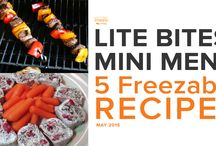 Lite Bites Mini Menu May 2015 / by Once A Month Meals