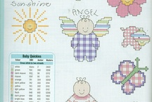 Baby samplers in X-stitch