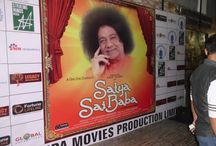 Satya Sai Baba - Music Launch / Sanjeev Gupta, popular outdoor advertising tycoon greeted Padmashree, Bhajan singer Anup Jalota  for playing the iconic role of god man Sathya Sai Baba in a film with the same title on a shooting set in Mumbai. Mr. sanjeev is also present in few shoots of the film.