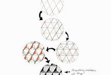 Zentangle - strak / Strakke grafische vormen....