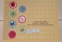 """A Round Array~Stampin'Up / Coordinates with 7/8"""" scallop circle punch"""
