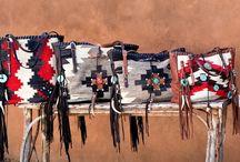 Native American blanket bags