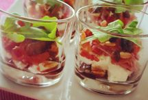 Voorgerechten/Amuse / Ham met kaas en vijgenconfiture