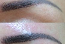 Bespoke Brows-- Reworked Tattoos / Clients who come to us with existing brow tattoos from other salons, that they want made more natural-looking, Often we are able to work with the existing work, without the client having to resort to laser tattoo removal.