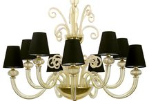 Chandelier Little Roma - Mollini / 10 arms chandelier is made of best quality blown glass. Extremely decorative chandelier brings to mind aristocratic residences. Chromed gold construction gives elegance and luxurious look to whole.